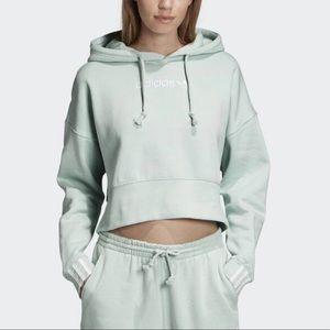 Adidas Coeeze crop hoodie sweatshirt vapor green